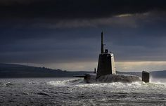 Pictured is HMS Ambush returning to HMNB Clyde in Scotland.