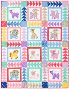 """""""Naptime Friends"""" designed by Darlene Zimmerman for Robert Kaufman Fabrics. Features Naptime by Darlene Zimmerman. FREE pattern (robertkaufman.com) available 6/2015."""