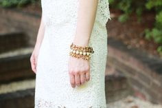 Poor Little It Girl - Chicwish White Crochet Shirt and Skirt, Zara Nude Heels and Bag