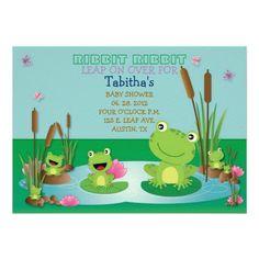 RIBBIT RIBBIT Invitation #babyshower #invitation #birthday #kids