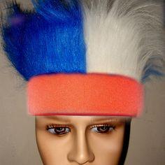 红色头带+蓝白毛
