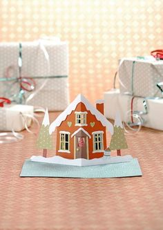 Pop-up christmas card printable and instructions £0.69