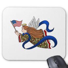 """Military Camo Angel"" Mousepad"