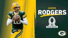 Green Bay Packers, Nfl Pro Bowl, Aaron Rodgers, Football Helmets, Sports, Baseball Cards, Hs Sports, Excercise, Sport