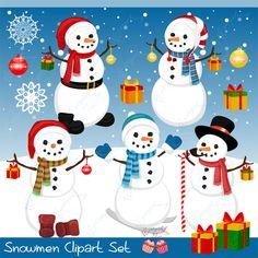 Snowmen Clipart Set