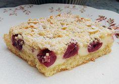 Leckere Rezepte: Kirsch - Streuselkuchen mit Quark vom Blech