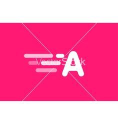 Fast line logo a monogram icon vector