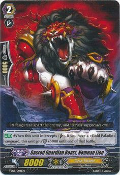 Sacred Guardian Beast, Nemean Lion/Gold Paladin