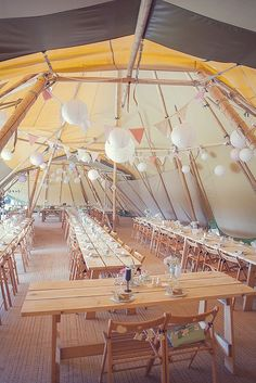 Kooky Pastel Pink & Mint Tipi Wedding With Lanterns & Bunting: Natalie & Tom