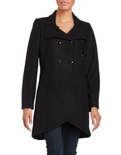 Cece Wool Blend Peacoat Women's Black 12