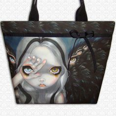 Divine Hand large tote bag Jasmine Becket Griffith by HautTotes, $49.75