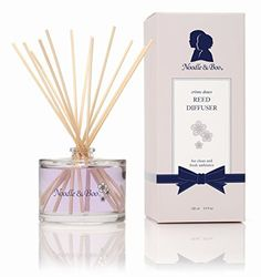 """(Product review for Noodle & Boo Reed Diffuser, 3.4 oz.). Reeds naturally draw and diffuse the crème douce fragrance.       Famous Words of Inspiration...""""All God's children are not beautiful. Most of God's children are, in fact, barely presentable.""""   Fran Lebowitz — Click here for more from Fran ..."""