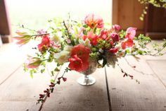 White Magnolia Designs floral arrangement on Floret Flower Farm blog.