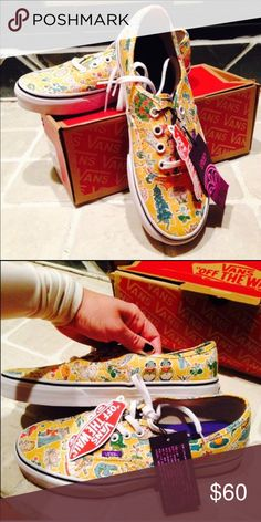 Vans Alice and Wonderland Authentic New New with box Vans Liberty Old school Alice and Wonderland think walrus and oysters :) Vans Shoes Sneakers