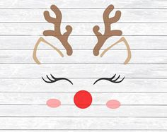 Image result for reindeer face cut file