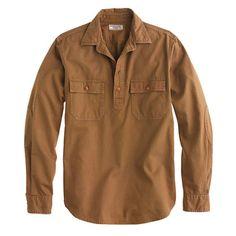 Wallace & Barnes twill popover - shirts - Men's New Arrivals - J.Crew