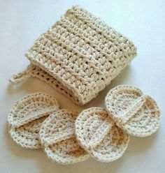Wash cloth and scrubby set spa set crochet spa set by silvashop