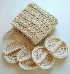 Crochet spa set wash cloth and scrubby set oil by silvashop