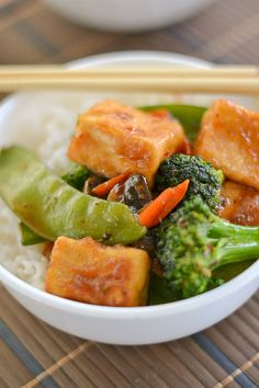 Vegetable Stir Fry with Sweet and Spicy Tofu Recipe ~ This vegetarian ...