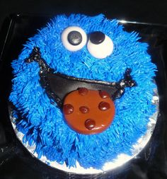 Cookie Monster Smash Cake