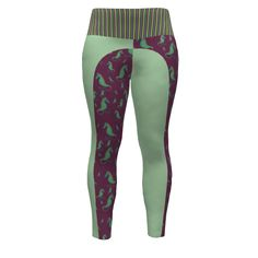 Hey June Handmade Sloan Paneled Leggings made with Spoonflower designs on Sprout Patterns. These paneled leggings have been designed using a medley of fabrics from my Ocean Challenge Collection.  Check in comments section below for coordinating items.