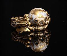 "Bagues anciennes / Baroque / Bague ""memento mori"", Pays-Bas, 17e siècle - Memento mori ring -"