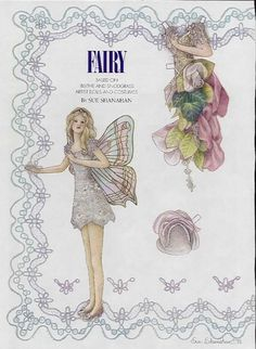 FAIRY ~~  Based n Blythe and Snodgrass Artist Dolls and Costumes by Sue Shanahan 1 of 2