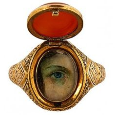 Lot: Lover's Eye 19th century ring agate, Lot Number: 0001, Starting Bid: $500, Auctioneer: Treadway Toomey Auctions, Auction: Timepieces, Erotica and Decorative Arts, Date: August 13th, 2016 PDT