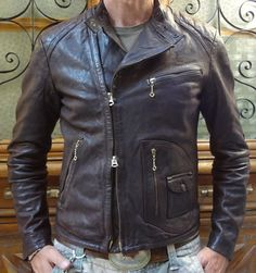 Natural brown cow calf D pocket motorcycle by thedileather.
