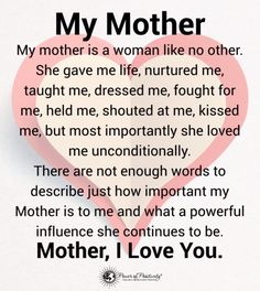 Inspiring Mother Daughter Quotes and Relationship Goals - Mutter Thank You Mom Quotes, Mothers Love Quotes, Love My Parents Quotes, Mom And Dad Quotes, Mom Quotes From Daughter, Happy Mother Day Quotes, Best Mom Quotes, Mothers Day Poems, Happy Mothers
