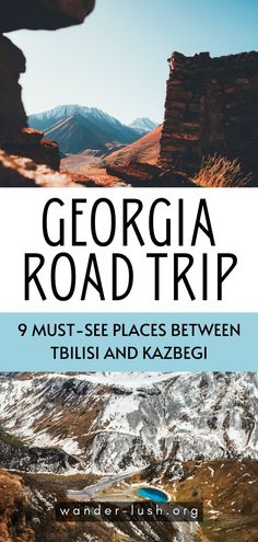 A guide to driving the magnificent Georgian Military Highway from Tbilisi to Kazbegi. Includes 9 places to stop for panoramic views of the Caucasus, food, and more. Voyage Europe, Europe Travel Guide, Asia Travel, Travel Destinations, Hiking Europe, Adventure Awaits, Adventure Travel, European Destination, European Travel