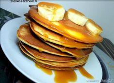 Placuszki bananowe bez mleka i cukru. Pancakes, Breakfast, Desserts, Food, Thermomix, Polish, Morning Coffee, Tailgate Desserts, Deserts