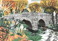 Helland Bridge, Cornwall illustration by Matt Johnson for Seasalt