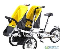 2012 hot!free shipping/1piece twins and mother stroller bike,twins & mom bicycle-in Strollers from Baby Products on Aliexpress.com
