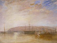 Joseph Mallord William Turner 'Shipping off East Cowes Headland', 1827