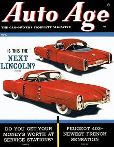1955 Lincoln Indianapolis Sports Coupe concept car
