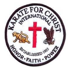 Karate for Christ International Patch now available at http://www.karatemart.com/