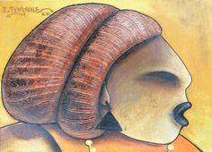Retrato da Huwana Rubi por João Timane    Arte de João Timane, Moçambique. .     . . . .     . . . .           Arte Artista Moçambique  Pintura  Ilustrações  Illustrator  Ilustrar  Desenho drawing Artista Colorir Cores  África Pincel Acrílico Acrilix Oil Óleo  Malangatana João Timane  Mural Arte digital Cartaz CCapa para livro Revista Cultura Belas artes Fine até Fim der artist Painting