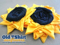 Old Te Shirt Sunflower Tutorial