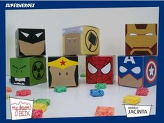 Cajas Heroes Spiderman Hulk Capitan America Souvenir Marvel