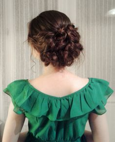 Prom and wedding hairstyle - romanctic curly updo