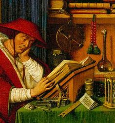 St. Jerome in His Study - Van Eyck  http://paternoster-row.medievalscotland.org/sites/paternoster-row.medievalscotland.org/files/jerome-eyck.jpg
