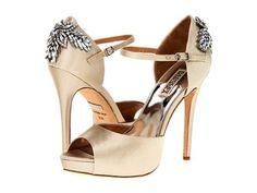 $250 NIB Badgley Mischka White Ivory Satin Crystal High Heels Pumps Stilettos 10