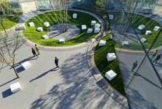 Vanke Daxing Yihezhuang Landscape by Ballistic Architecture Machine BAM Landscape And Urbanism, Landscape Architecture Design, Urban Architecture, Landscape Plans, Urban Landscape, Creative Landscape, Landscape Architects, Architecture Photo, Landscape Architecture
