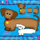 Clipart: Dachshund Dog Clip Art Set (Wiener Dog / Sausage Dog)  These sweet little puppy dog eyes will add a touch of cuteness to your classroom or...