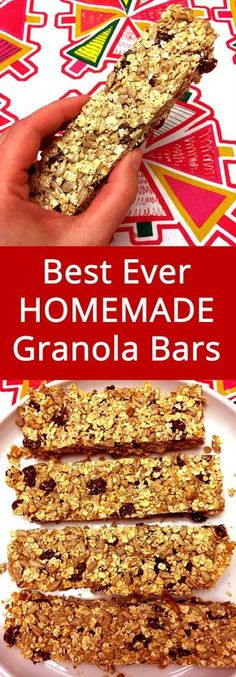 Homemade granola bars are best! I'll never buy store-bought again! This is my favorite granola bar recipe!