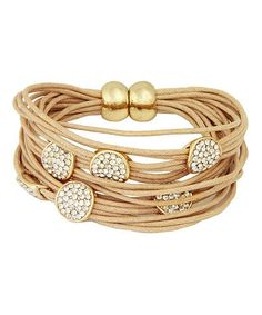 Gold & Nude Sparkle String Bracelet. - Cami Fashion Sneakers