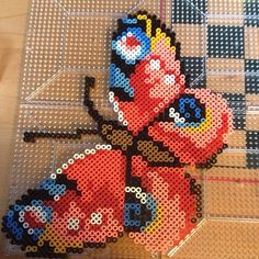 Butterfly perler fuse beads by perlerobsessed