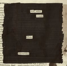 "Poesia ""achada"" no jornal do dia 04/01 pela poeta Marina Wisnik"