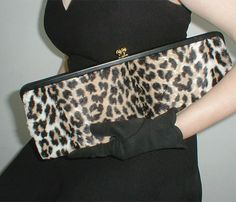 50s vintage long faux leopard clutch - from my sold archives at denisebrain.com